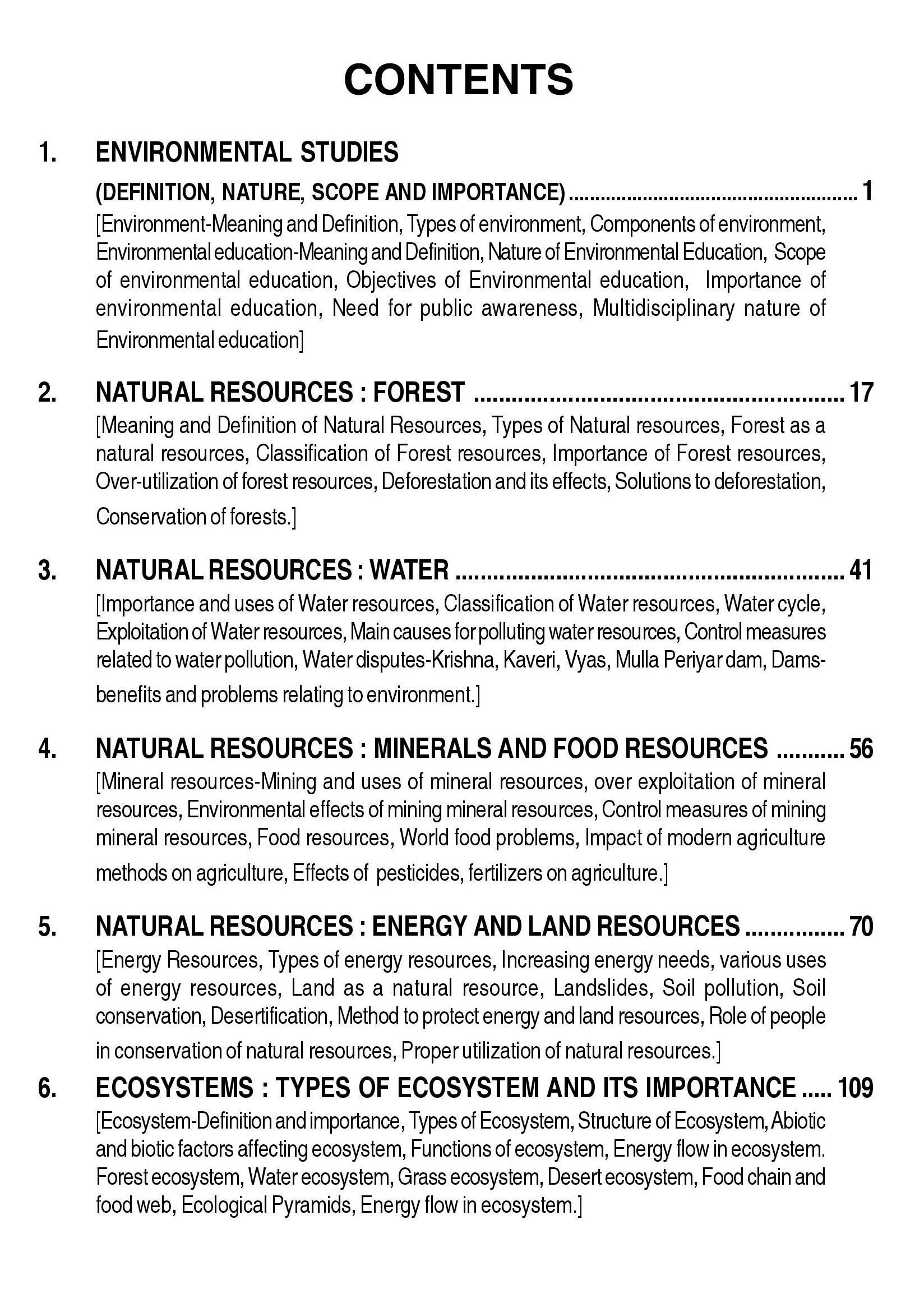 Environmental Studies Book for Undergraduate Classes - Sahitya Bhawan